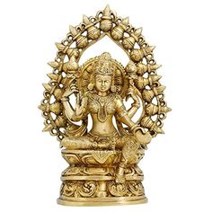 Statues And Figurines Goddess Laxmi Sculptures Hindu Home Decor In Brass 10.5 Inches ShalinIndia http://www.amazon.in/dp/B00TF4LNT4/ref=cm_sw_r_pi_dp_EGV3vb05WJGC8