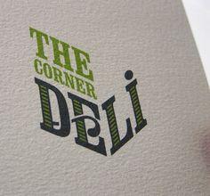"The corner deli logo design ""found on www.fromupnorth.com pinned by an advertising agency from Hamburg Germany - www.BlickeDeeler.de"""