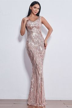 Glamorous Sequins V-Neck Mermaid Evening Party Gowns Long Prom Dress Online Affordable Prom Dresses, Prom Dresses Online, Homecoming Dresses, Dress Online, Formal Dresses, Latest Fashion Dresses, All Fashion, Mermaid Sequin, Latest Ankara Styles