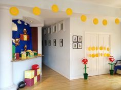 Floating Coins..super mario birthday party 2 Really Rad Super Mario Birthday Party