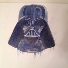 Darth Vader.  Under painting.