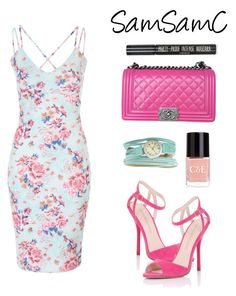 """""""# 190 ♡"""" by samchoo ❤ liked on Polyvore featuring Lipsy, Chanel, TOKYObay, Crabtree & Evelyn and Topshop"""