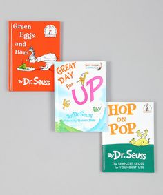 Take a look at this Green Eggs & Ham Book Set by Dr. Seuss Boutique on #zulily today!