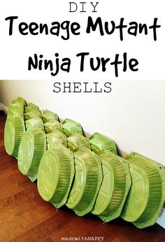 DIY Teenage Mutant Ninja Turtle Shells for your TMNT birthday party! Turtle Birthday Parties, Ninja Birthday, Birthday Ideas, Carnival Birthday, Birthday Cakes, Fourth Birthday, Birthday Recipes, Card Birthday, Birthday Diy