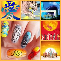 Discover recipes, home ideas, style inspiration and other ideas to try. K Pop Nails, Cute Nails, Hair And Nails, My Nails, Korean Nail Art, Korean Nails, Idol Nails, Bts Makeup, Cool Nail Art