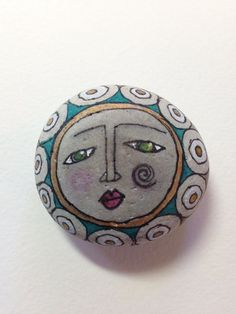 Hand Painted Rock Being Fear Less by QueenofArtsStudio