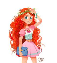 Disney Princess Merida, Disney Princess Drawings, Punk Princess, Modern Princess, Princess Art, Disney Drawings, Princess Tattoo, Disney Au, Disney Fan Art