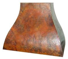 RH003 Hammered Copper Rangehood in Natural Fired Patina. Custom made to order.