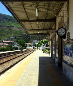 """Portugal's best kept secret is its exquisite train depots tucked away in the quaint towns of the Douro Valley.Often ornamented with distinctive blue and white tiled mosaics depicting scenes of the port wine harvesting tradition, these stations should be designated sites in and of themselves."""