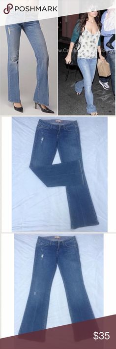 "Paige ""Laurel Canyon"" distressed bootcut jeans 28 These jeans are loved by celebrities all over Hollywood! Super excellent pre-loved condition! Slight, natural distressing throughout. Approx 30"" waist, 8"" front rise, 31"" inseam. 98% cotton, 2% spandex. ✅offers ❌trades/PP 💰make an offer on bundles Paige Jeans Jeans Boot Cut"