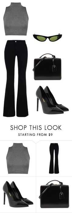 """""""70's style☄️"""" by luka1207 ❤ liked on Polyvore featuring WearAll, STELLA McCARTNEY, Yves Saint Laurent, Mark Cross and Ray-Ban"""