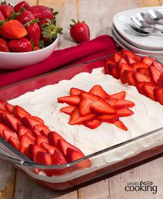1 with awesome appetizers, sides, main dishes and delicious desserts, including our fan-favourite Canada Day Flag Cake. Cool Whip, 200 Calories, Just Desserts, Dessert Recipes, Italian Desserts, Canada Day Party, Canadian Food, Canadian Recipes, Canadian Cuisine
