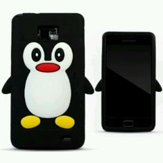 Penguin cover Galaxy S2, Skin Case, Silicone Gel, 3d Design, Penguins, Cell Phone Accessories, Samsung, Cartoon, Stylish
