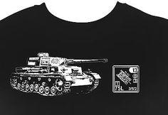 German Panzer IV Tank Tshirt  WWII Wehrmacht Army  Advanced Squad leader ASL