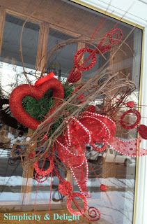 Simplicity and Delight: Valentine Wreath