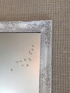 Shabby Chic White Wash Vintage Inspired Wall Mirror Perfect way to bring light and beauty to a room. These vintage style mirrors are perfect for shabby chic nurseries, bathrooms and living room home d