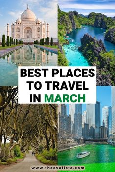 Check out these awesome places to travel for Spring. Best places to travel in March | Where to travel in March | Spring Break Destinations | Best Spring Travel | Best Spring Festivals | Warm places to travel in March | Bucket list trips in Spring | Trip Inspiration for Spring | St. Patrick's Day | Spring break trips #march #Springtravel #asia #usa #europe