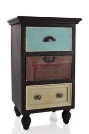 Shabby Chic Wooden Bedside Table / Drawers