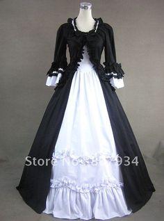 ¡Envío libre! ¡Orden de encargo! Vestidos medievales, vestido de coctel, vestido de bola gótico del vestido