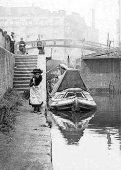 Regent's Canal at Hawley Lock, St Pancras, Camden, London, London Pictures, London Photos, Photos Du, Old Pictures, Old Photos, Vintage Photos, London Pride, Camden London, Old London