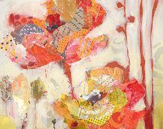 Red Flowers Original Painting