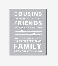 cousins are your first friends