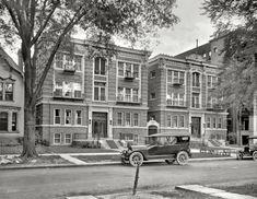 "Detroit, Michigan, circa 1920. ""Woodstock Apartments."""