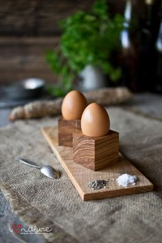 Handcrafted egg stands