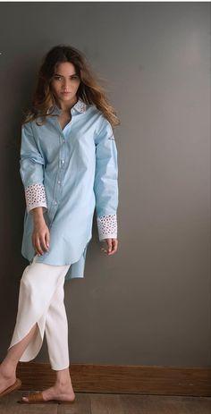Pakistani Dress Design, Pakistani Outfits, Women's Fashion Dresses, Casual Dresses, Trendy Suits, Kurta Style, Kurta With Pants, Kurti Neck Designs, Designs For Dresses