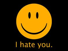 FUNNY TSHIRT i hate you tee 70s retro smiley face t by TshirtFuxx
