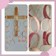 paper chain countdown to Easter Lent project for kids and families