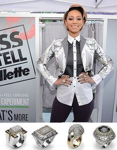 R&B Singer/Songwriter Keri Hilson, wore FOUR bold VAHAN rings to 'Gillette's Kiss & Tell Live Experiment!' Why wear just one when you can wear them all?! #VahanCelebs #KeriHilson