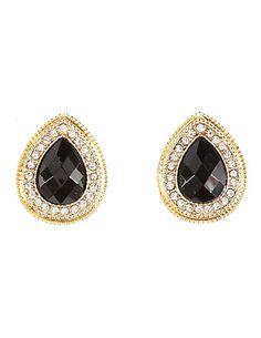Faceted Stone Teardrop Earrings #CharlotteRusse #earrings