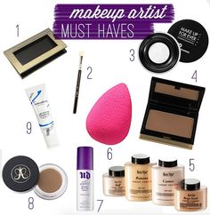 makeup artist freelance kit must haves via Wake Up For Makeup