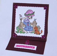 Learn How To Make A One Piece Easel Card