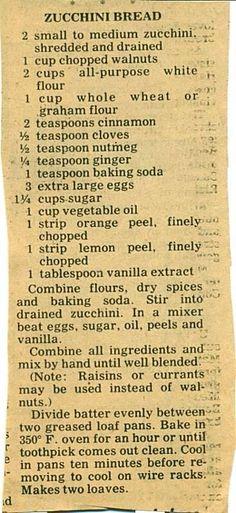 Vintage recipe.