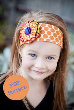 PDF Sewing Pattern and Tutorial for Funky Flower Headband, Reversible Cotton Fabric Head Band, Make and Sell, DIY by Angel Lea Designs @Tisha Ward-Lever?