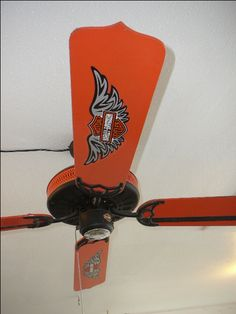 Old ceiling fan I restored as a Harley Davidson style (Tom Tucker)