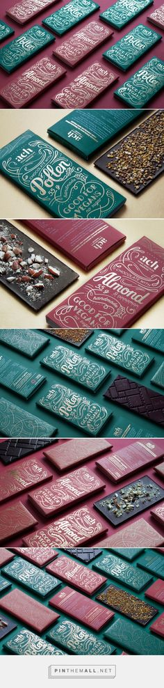 ACH vegan chocolate/Limited Edition by Gintare Ribikauskaite. Source: Behance. Pin curated by #SFields99 #packaging #design