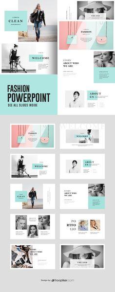 Fashion PowerPoint Presentation Template - My best design list Portfolio Design Layouts, Layout Design, Fashion Portfolio Layout, Graphisches Design, Portfolio Ideas, Fashion Design Portfolios, Slide Design, Portfolio Presentation, Business Powerpoint Presentation