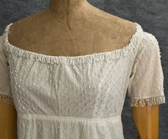 Directoire-Style Evening Dress (detail): ca. 1805, French, beaded cotton.