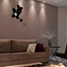 wallsticker three flowers Wallpaper interior Design