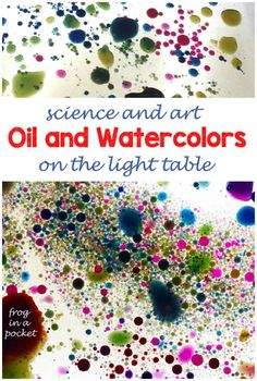 Kids science oil and water