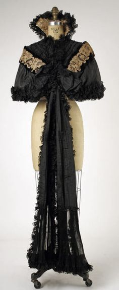 Worth cape ca. 1893-1899 via The Costume Institute of The Metropolitan Museum of Art