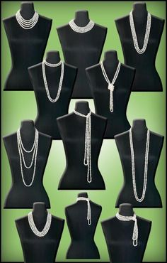 Different kinds of pearl necklaces. Craft ideas from LC.Pandahall.com                  #pandahall