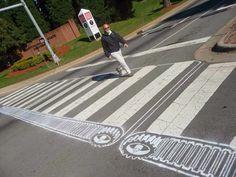 25  Unbelievable Pedestrian Crossing Street Art