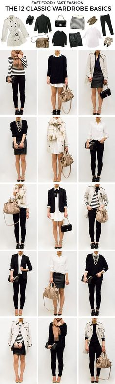 Classic wardrobe outfits