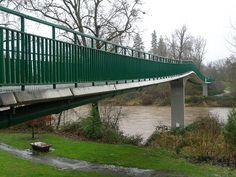 Rogue River Pedestrian Bridge (Grants Pass, 2000) | Structurae