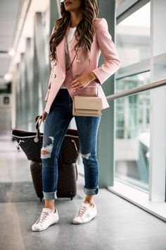 Blazer Outfits Casual, Business Casual Outfits For Women, Cute Casual Outfits, Stylish Outfits, Women Blazer Outfit, Women Fashion Casual, Cute Professional Outfits, Womens Fashion Outfits, Casual Style Women
