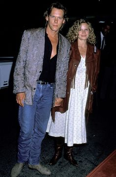 This long-lasting Hollywood couple was married in 1988 and were expecting their first son when they attended the <i>Ghostbusters II </i>premiere. <i>(Photo: Ron Galella/WireImage)</i> Kyra Sedgwick, Hollywood Couples, Hollywood Stars, Famous Celebrities, Celebs, Ghostbusters Ii, Ernie Hudson, Kevin Bacon, Actor